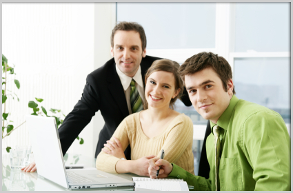 Staff at work, business consulting